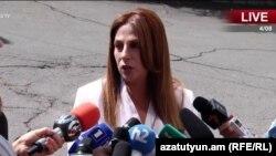 Кандидат в мэры Еревана от партии «Еркир цирани» Заруи Постанджян, Ереван, 23 сентября 2018 г.