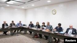 هیات نمایندگان مخالفان دولت سوریه در نشستی که چندی پیش با استفان دی میستورا نماینده سازمان ملل متحد در امور سوریه داشتند