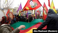 Kürd nümayişçilər Ocalana azadlıq tələb edirlər
