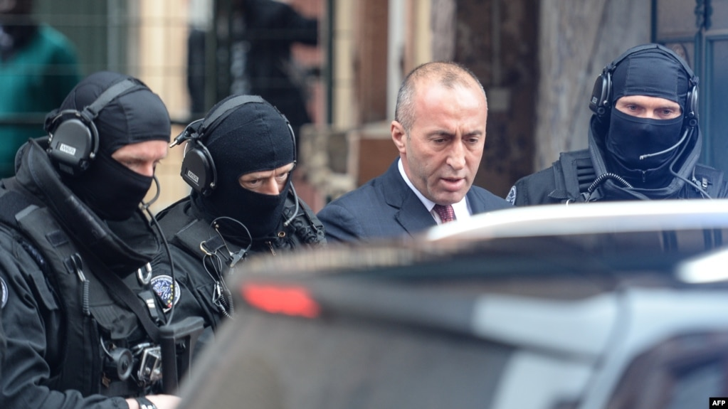 Following a request from Serbia, French authorities detained former Kosovo Prime Minister Ramush Haradinaj on January 4. (file photo)