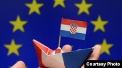 Zastava EU i Hrvatske