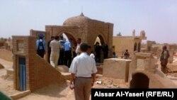 موقع الانفجار في وادي السلام بالنجف