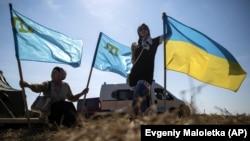 Під час торговельної блокади Криму, окупованого Росією. Чонгар, 20 вересня 2015 року
