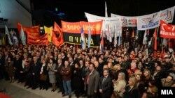 Sa predizbornog skupa VMRO-DPMNE, Kumanovo