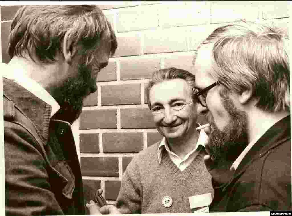 Первый съезд «Солидарности» в Гданьске. Юзеф Дуриаш, Марек Эдельман, 1981 г.