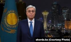 Президент Казахстана Касым-Жомарт Токаев во время новогоднего обращения к гражданам