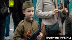На праздновании 9 мая в Севастополе