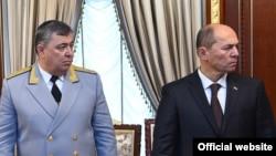 Мансурджон Умаров и Рустам Шохмурод, заместитель министра и министр юстиции Таджикистана