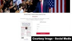 پیماننامه ترمپ با رأی دهندهگان امریکایی