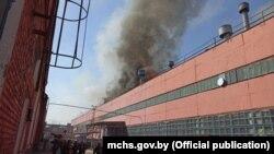 Пажар на Менскім трактарным заводзе 9 чэрвеня