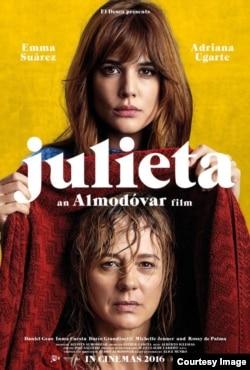 "P. Almodovarın yeni filmi ""Julietta""nın posteri."