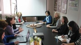 Kustosice Metropliten muzeja Barbara Boehm i Melanie Holcomb na sastanku u Sarajevu