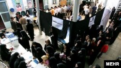 Iranians casting ballots at a polling station in Tehran in the June 2009 presidential election, which opposition critics called a fraud.