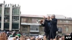 میرحسین موسوی در راهپیمایی اعتراضی خردادماه