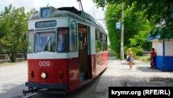 Трамвай в Евпатории, архивное фото
