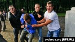 Задержание участников акции в Минске