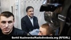 Михаил Саакашвили на заседании суда в Киеве. 11 декабря 2017 года.