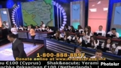 US/Armenia - Hayastan All-Armenian Fund's annual telethon in Los Angeles, 28Nov,2013