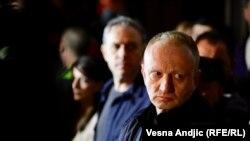 "Dragan Đilas na jednom od protesta protiv vlasti u Srbiji ""1 od 5 milliona"""