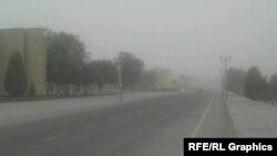 Буря, поднявшая пыль и соль с высушенного Аральского моря.