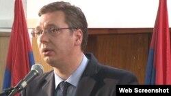 Zëvendëskryeministri i parë i Serbisë, Alleksandar Vuçiq (Ilustrim)