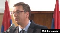 Српскиот вицепремиер Александар Вучиќ