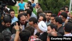 حسن روحانی در جمع دانشجویان در کرج، یک ماه پیش از انتخابات ریاست جمهوری ۹۲