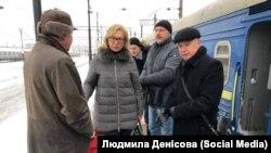 Ukraina ombudsmeni Lüdmila Denisova Moskvağa trennen keldi