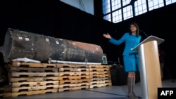 U.S. Аmbassador to UN Nikki Haley presents the evidence of of Iran Weapon Supplies to Yemen rebels. File photo