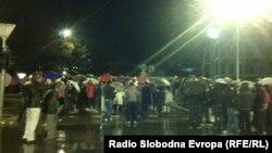 Протести на Бихаќка пред седиштето на СДСМ