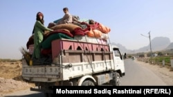 Civilians fleeing the fighting in Arghandab, a rural district and center of the current Taliban offensive.