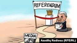 Референдум в Азербайджане. Карикатура. Гюндюз Агаев.