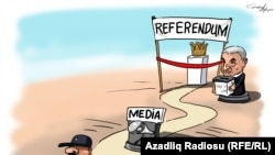 Azerbaijan -- cartoon, referendum, Gunduz Aghayev