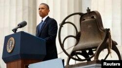 Президент США Барак Обама. Вашингтон, 28 августа 2013 года.