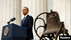 """Govor tadašnjeg predsjednika SAD-a Baracka Obame povodom 50. godišnjice Marša za Vašington i govora """"Ja imam san"""", Vašington, 2013."""