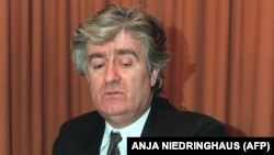Radovan Karadzic at his headquarters in Pale in January 1993