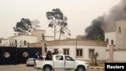 Бои в центре Триполи.