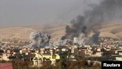 Бои в окрестностях Мосула.