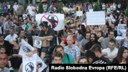 Протестите против полициска бруталност во Скопје на 10 јуни 2011 година.