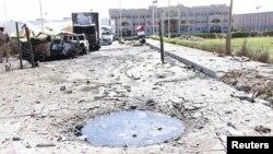 Улица в йеменском городе после завершения очередных столкновений.