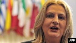 Zëvendëskryeministrja në largim e Kosovës, Edita Tahiri.