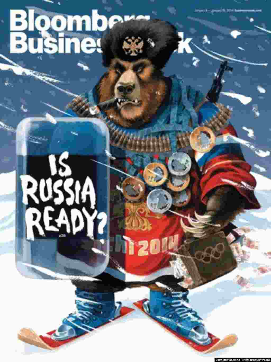 "For Joshua Yaffa's cover story about corruption in preparation for the winter games, ""Bloomberg Businessweek"" uses a bear -- often seen as a symbol for Russia. The magazine explained that other cover ideas fell flat."