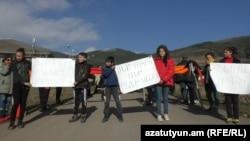 Жители Агарта И Ардви выступают против золотодобычи на территориях их общин, 1 декабря 2017 г․
