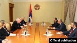 Встреча сопредседателей Минской группы ОБСЕ с президентом Нагорного Карабаха Бако Саакяном в Степанакерте, 18 февраля 2015 г.