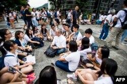 Сидячий молодежный протест в Гонконге. 26 сентября