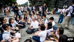 دانشجویان هنگ کنگی ۲۲ سپتامبر