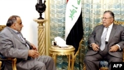 President Jalal Talabani (right) and Vice President Adel Abdul-Mehdi