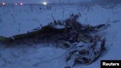 Обломки на месте крушения Ан-148 в Московской области 11 февраля 2018 года