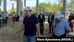 Mikheil Saakashvili Odessa hava limanı terminalının tikintisində