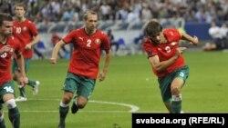 Зборная Беларусі па футболе на матчы з Францыяй